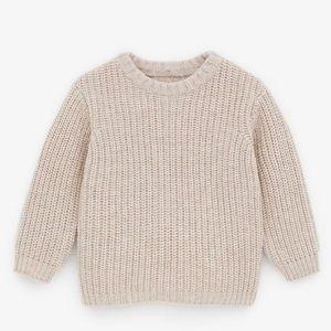 Zara Beige Oatmeal Color Knit Sweater Size 6-9 Mos